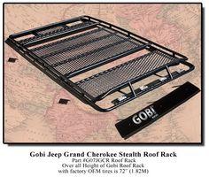 GOBI Jeep Grand Cherokee WJ Stealth Rack - Alpha Expedition Jeep Wk, Jeep Gear, 1999 Jeep Cherokee, Jeep Grand Cherokee Laredo, 4x4 Accessories, Jeep Mods, Jeep Wagoneer, Jeep Stuff, Campfires