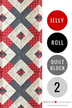 Quick and easy jelly roll quilt block 2 video tutorial