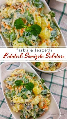 Appetizer Salads, Appetizers, Turkish Recipes, Ethnic Recipes, Mediterranean Recipes, Baked Potato, Good Food, Food And Drink, Tasty