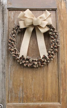 Acorn Wreath Fall Wreath Autumn Wreath Rustic by HeartOfHomeDesign Acorn Wreath, Grapevine Wreath, Tulle Wreath, Burlap Wreaths, Rustic Wreaths, Wreaths For Front Door, Door Wreaths, Autumn Wreaths, Wreath Fall