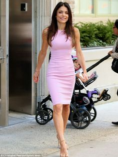 Looking good: Reality star Bethenny Frankel stepped out on Wednesday in a figure hugging p...
