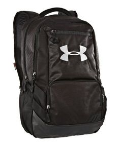 Under Armour UA Hustle Storm Backpack One Size Fits All Black UA Storm gear uses a DWR finish to repel water without sacrificing breathability. Soft lined Cute Camping Outfits, Cheap Camping Gear, Under Armour Backpack, Police Gear, Everyday Carry Gear, Backpack Reviews, Tactical Backpack, Best Sneakers, Kids Bags