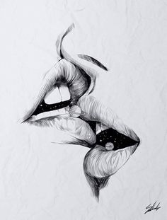 Image about love in Drawings by Beta on We Heart It Pencil Art Drawings, Art Drawings Sketches, Good Sketches, Beautiful Sketches, Art Du Croquis, Eyes Artwork, Erotic Art, Art Inspo, Amazing Art