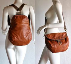Recycled leather clothing into bags. Great for pieces that are damaged on part