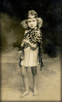 :: 1920's UK postcard :: She just looks so marvelously fierce :)
