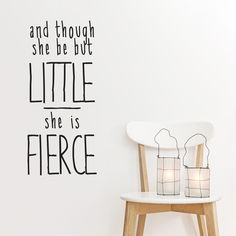 Share us on your network of choice and get 10% off your order! She Is Fierce Wall Quote Decal