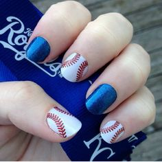 Who's ready for ball? Curve ball nail wrap found in the Sports and Hobbies category!! Love this!