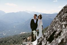 Elopement on Mountain cliff