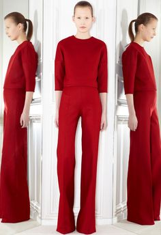 Something about head to toe red. Giambattista Valli Pre Fall 2012