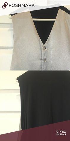 Mens suit vest silver size L Mens suit vest silver size L tuxedo performance wear Suits & Blazers Vests