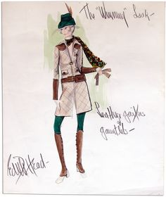 Edith Head sketch for Winning (1969)