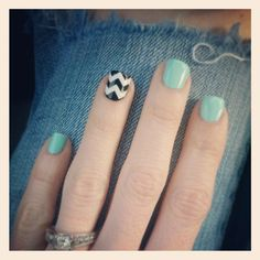 Chevron nails #mint #chevronnails #nailpolish #chevron #nails #girly