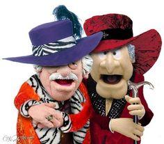 Waldorf & Statler out big pimpin style (Muppets)