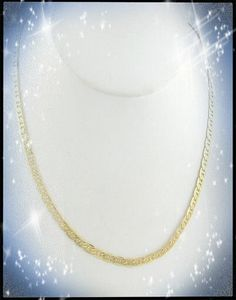 """Mariners Link Chain 22"""" Necklace in 14k Gold Overlay x3, Gift Boxed"""