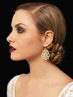 1920's makeup | Smokey Eyes || 1920s Makeup || Art Deco Weddings