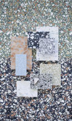 Material Mood Of The Week ~ One of each please! #terrazzo #stone #interior #architecture #design #svenskterrazzoteknik #interiordesign #studiodavidthulstrup