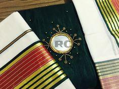 Kasavu Saree, Sarees, Set Saree, Kerala Saree, Mirror Work, Hand Embroidery Designs, Anarkali, Traditional, Collection