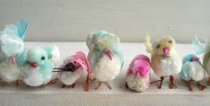 1950's or 60's vintage Chenille chickies via Such Pretty Things