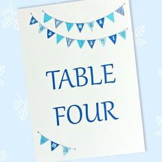Wedding table names or numbers to display on wedding reception tables. These table name/number cards are printed using pigment ink which is splash proof. Wedding Table Names, Wedding Reception Tables, Wedding Day, Name Boards, Pressed Leaves, Table Numbers, Bunting, Wedding Stationery, Prints