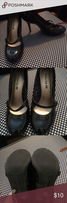 American Eagle Heels American eagle black heels, only worn a few times. In excellent condition, no scrapes or cuts. American Eagle by Payless Shoes Heels