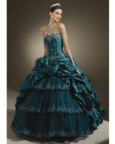 teal ball gowns - Google Search