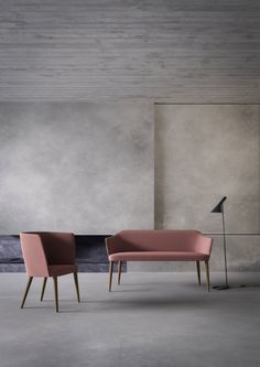 Sofa Axel by Enrico Franzolini for Crassevig Sofas, Curved Lines, Contemporary Furniture, Dining Bench, Armchair, The Originals, Table, Rounding, Design