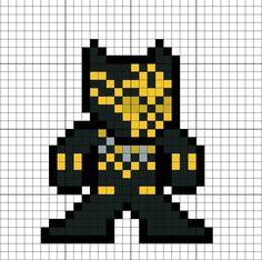 Erik Killmonger Black Panther Suit Perler Bead Pattern