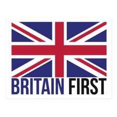 Britain First UK Flag Editable Postcard - create your own personalize