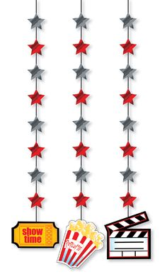 Hollywood Hanging Cutouts 18 cutouts for $21.95