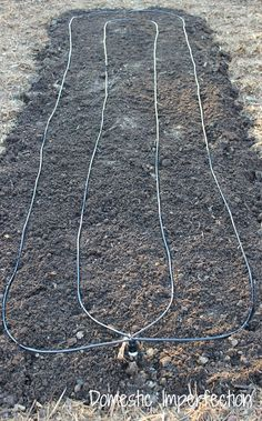 Create a Self Watering Garden -- PVC, drip tubing, hose adapter, and a programmable timer