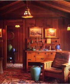 Craftsman-style room. ~ This photo has always been my dream room
