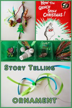 Christmas Ornament Preschool Activities. How The Grinch Stole Christmas! Story Telling Ornament with Dr. Seuss.
