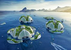 The floating city would be made of ocean trash and be able to farm mollusks, fruits and veggies for the residents.