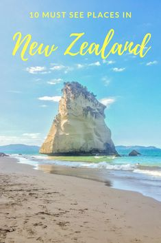10 must see places in New Zealand, TRAVEL, New Zealand is a bucket list travel destination with beautiful places, mountains and nature throughout the North and South Island. If you're backpac. Travel List, Travel Goals, Travel Guides, Travel Bucket Lists, New Travel, Budget Travel, Family Travel, New Zealand Itinerary, New Zealand Travel Guide