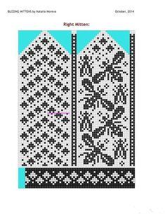 Bilder på veggen til felleskapet Crochet Mittens Free Pattern, Fair Isle Knitting Patterns, Knit Mittens, Knitting Charts, Knitting Stitches, Knitting Socks, Free Knitting, Drops Design, Ravelry