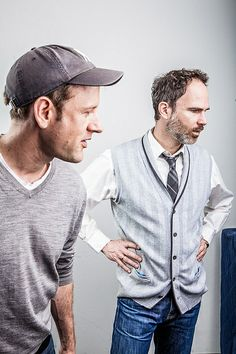 "Titus Hoffmann (director & translator) & Thomas Borchert (actor/singer ""Dan"") at the photoshooting for the poster of the German premiere production of ""next to normal"""