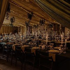 Harry Potter themed wedding! We installed draping to curtain off the dining space pre dinner since the ceremony was taking place in the same big room, and C + T wanted to make sure the set up was a total surprise for their guests. Each of the four long tables had a different colour of cloth (can you guess the colours?) and the groom hand made tiny vials of pink gin as favour.  Photo -@neilthomasdouglas  #harrypotterwedding #weddingthemes #weddingtabledecoration #tablescapeideas #weddingstyl Wood Wedding Decorations, Wooden Wedding Signs, Wedding Themes, Table Decorations, Rustic Wedding Stationery, Wedding Cake Rustic, White Cow, Little White, Jewel Colors