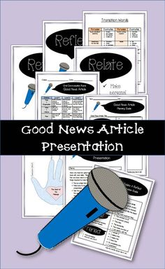 Oral Presentation - Good News Article Instructions, Graphic Organizer and Rubric Transition Words Examples, List Of Transition Words, Oral Communication Skills, Presentation Skills, Public Speaking, Graphic Organizers, News Articles, Rubrics, Comprehension