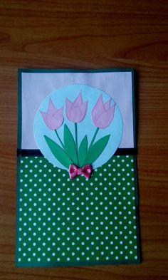 Birthday tulip card Tulips, Birthday, Artist, Cards, Handmade, Birthdays, Hand Made, Artists, Craft