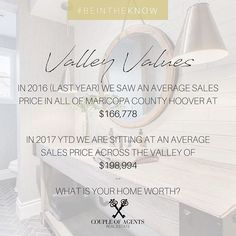 @coupleofagents || Do YOU know what your home is worth?? Chances are your property value has increase significantly over the last year. If you are unsure of your value and want to get it checked witha  professional, contact us today! We can guide you to take the right steps 💸 🏡 #ValleyValues #CoupleOfAgentsRealEstate