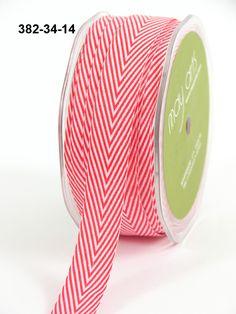 25 yd Ivory//Red May Arts Ribbon 1.25 Inch Woven Stripes Ribbon