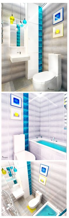 #Bright #bathroom #yellow #murrravyova #muravyova #blue #yellowandblue #lightning