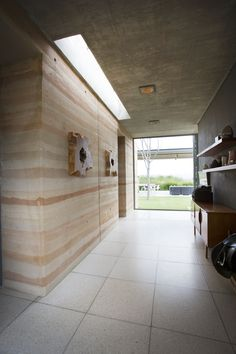 a Foyer with a view. Off shutter concrete.