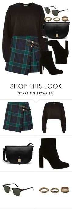 """Style #11384"" by vany-alvarado ❤ liked on Polyvore featuring Burberry, River Island, Mulberry, Gianvito Rossi, Topshop and Forever 21"