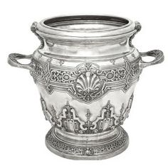 Large Italian Sterling Silver Champagne Bucket