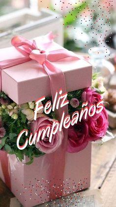 Free Happy Birthday Cards, Happy Birthday Flower, Happy Birthday Messages, Happy Birthday Quotes, Birthday Greetings, Spanish Birthday Wishes, Happy B Day, Lets Celebrate, Birthdays