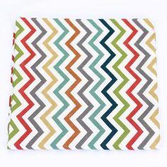 Organic Swaddle Blanket in Skinny Chev - Narra Nest - 1