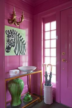 """""""Paint a small room in a bright lacquer color."""" —Amanda Reynal"""