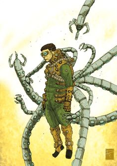 Doctor Octopus by Frédéric Pham Chuong Serie Marvel, Marvel Art, Marvel Heroes, Spiderman, Batman Vs Superman, Marvel Villains, Marvel Characters, Comic Character, Character Design