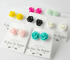 Pretty Rose Earring Grab Bag Sale / by theblackstarboutique